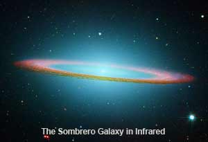 The Sombrero Galaxy in Infrared