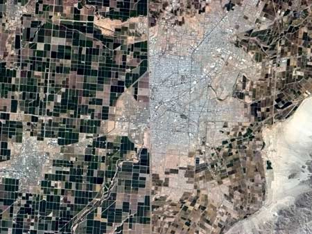 San Diego-Tijuana Border from Space