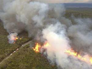 Wildfires North of Sydney, NSW