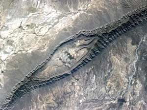 Anticline in Mexico