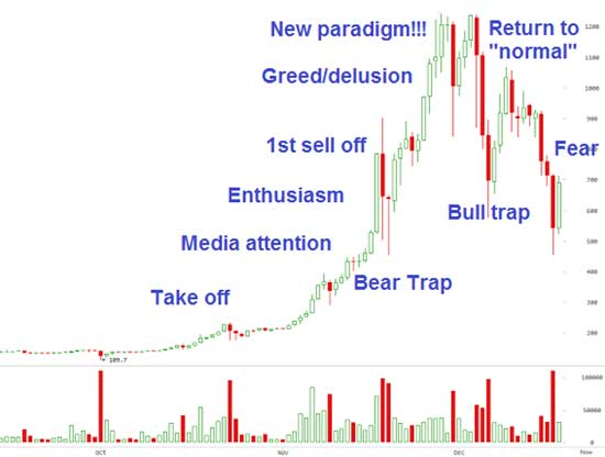 Bitcoin Conforms to the Classic Bubble Shape at the Beginning of the Year