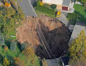 Eastern Germany Sinkhole