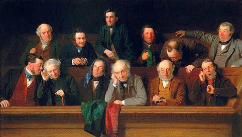 The Jury, by artist John Morgan, 1861