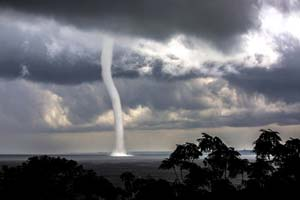 Freshwater Waterspout