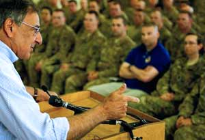 Panetta Speaks to the Troops
