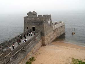 End of the Great Wall of China