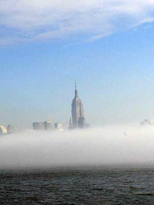 Heavy Fog Creeps over NYC