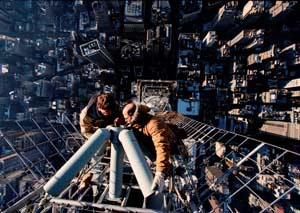 Workers Repair Empire State Antenna, 2000
