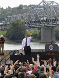 Obama at the Brent Spence Bridge
