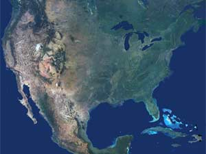 USA Topological Map