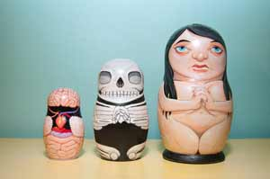 Anatomical Nesting Dolls Front View