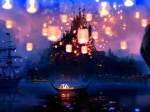 """Tangled"" Floating Lights (Fantasyland)"