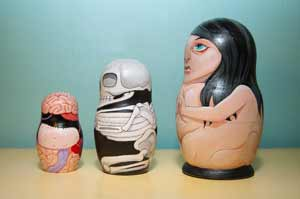 Anatomical Nesting Dolls Side View