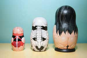 Anatomical Nesting Dolls Rear View