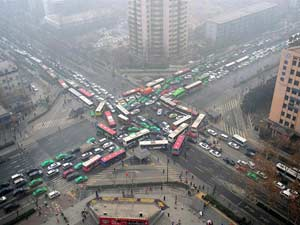 Traffic Tetris in China