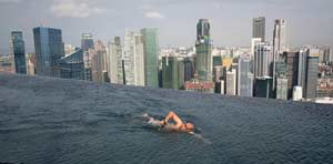 Guest Swims on 57th Floor