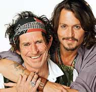 Keith Richards and Johnny Depp