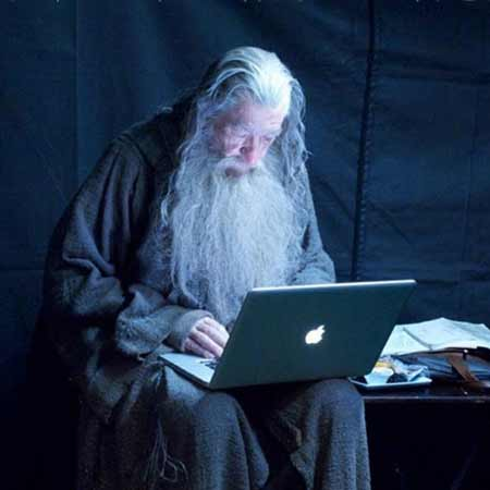 Gandalf Checking His Email