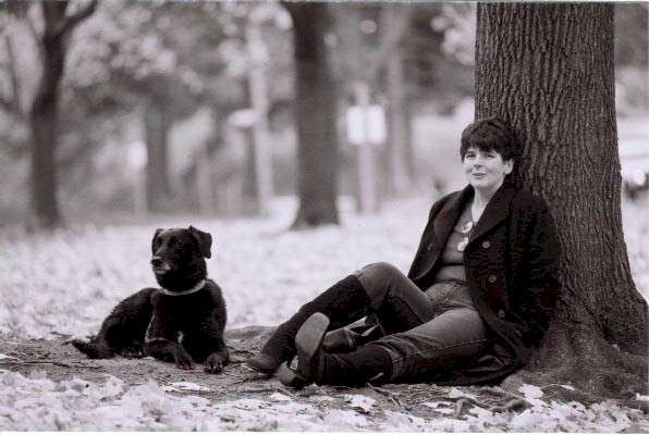 Diane with Dog