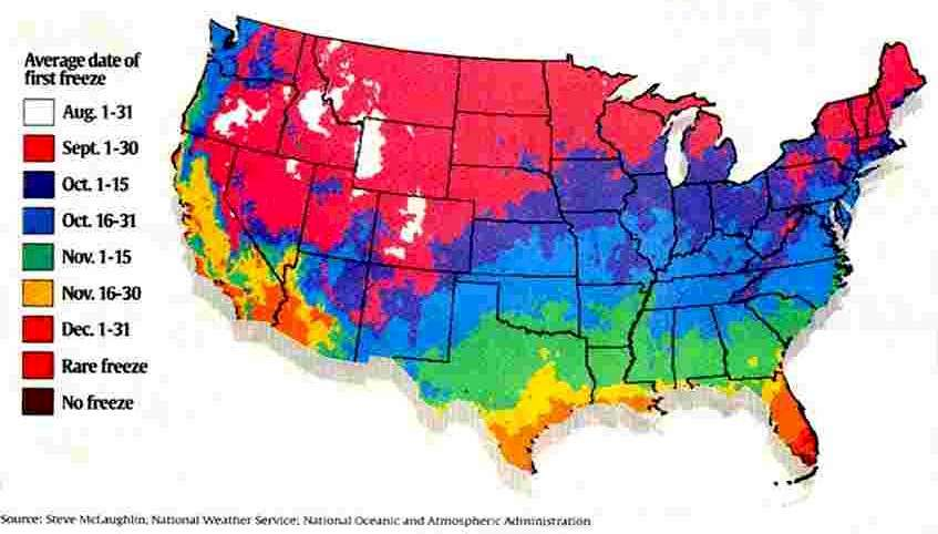 Snow Wonder - Average snowfall map us