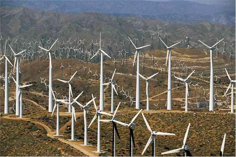 Windmills of Banning Pass, near Palm Springs, California, United ...