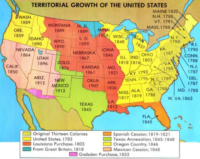 Blank Map Us Territorial Expansion US Expansion Map Expansionism