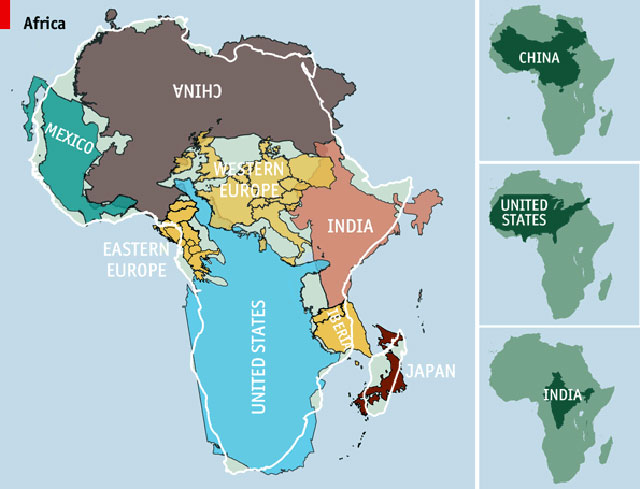 Hey! Africa Is Really Big