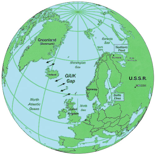 Greenland, Iceland, and the United Kingdom Chokepoint